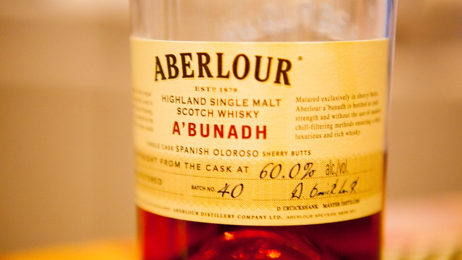 Aberlour A'bunadh Batch 40 Whisky Review
