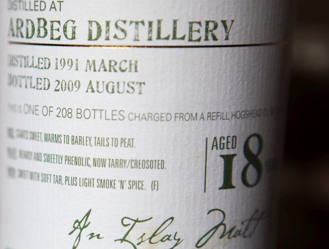 Douglas Laing Ardbeg 18yr 1991 Old Malt Cask Whisky Review
