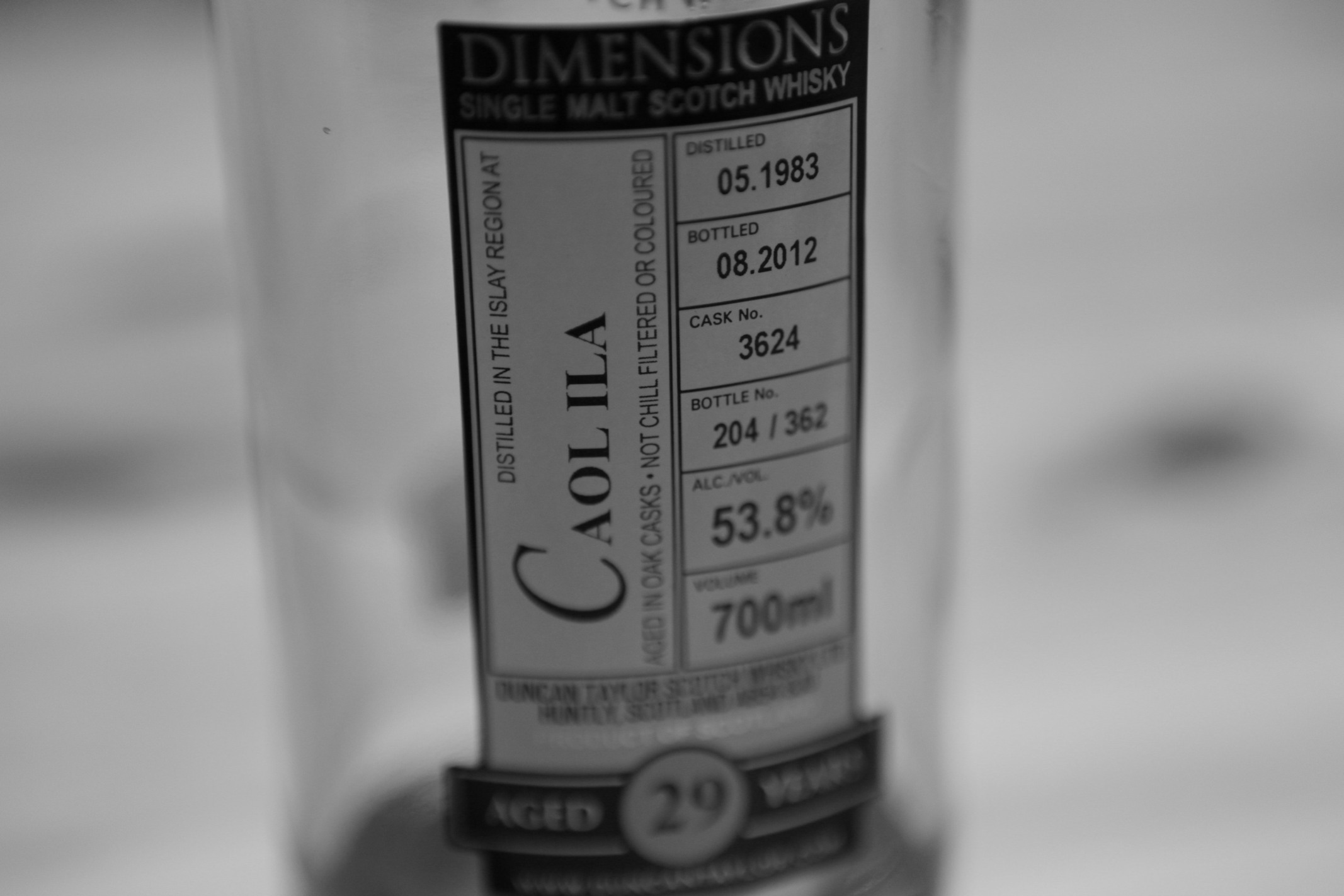 Duncan Taylor Caol Ila 29yr 1983 Dimensions Whisky Review