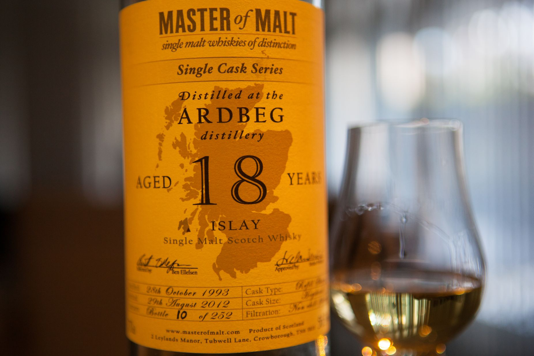 Master of Malt Ardbeg 18yr Single Cask Series Whisky Review
