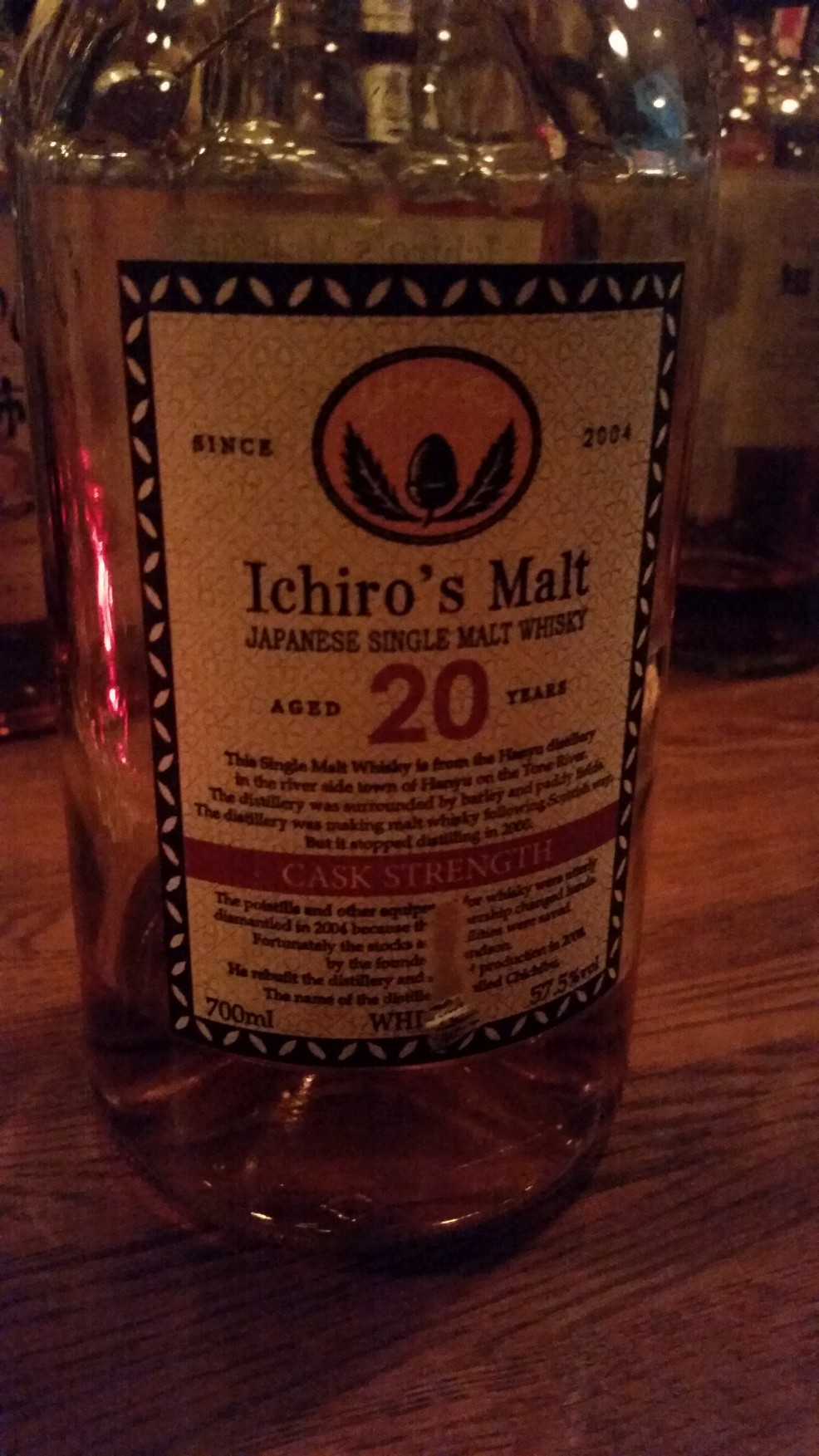Ichiro's Malt Hanyu 20yr Cask Strength Release 3